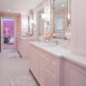 Martha Ou0027Hara Interiors   Bathrooms   Jack And Jill Bathroom, Pink Bathroom, Part 7