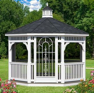Amish Gazebos - Vinyl Gazebos - Vinyl Gazebo Kit http://gazebokings.com/ http://gazebokings.com/cheap-wooden-gazebo-kits-for-sale-uk/