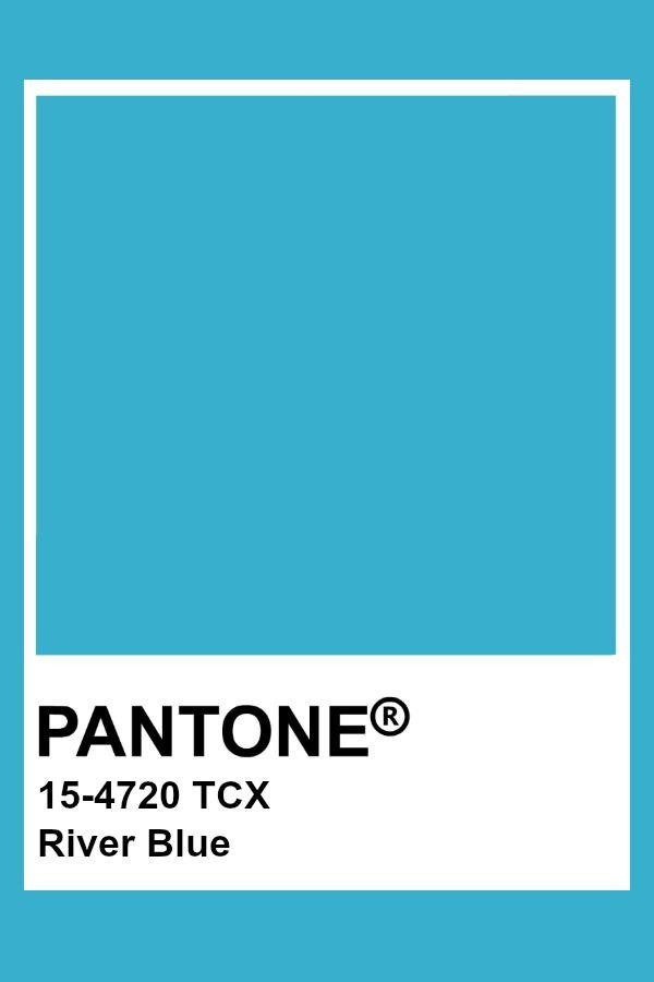 Pantone River Blue Color Cyan Trends
