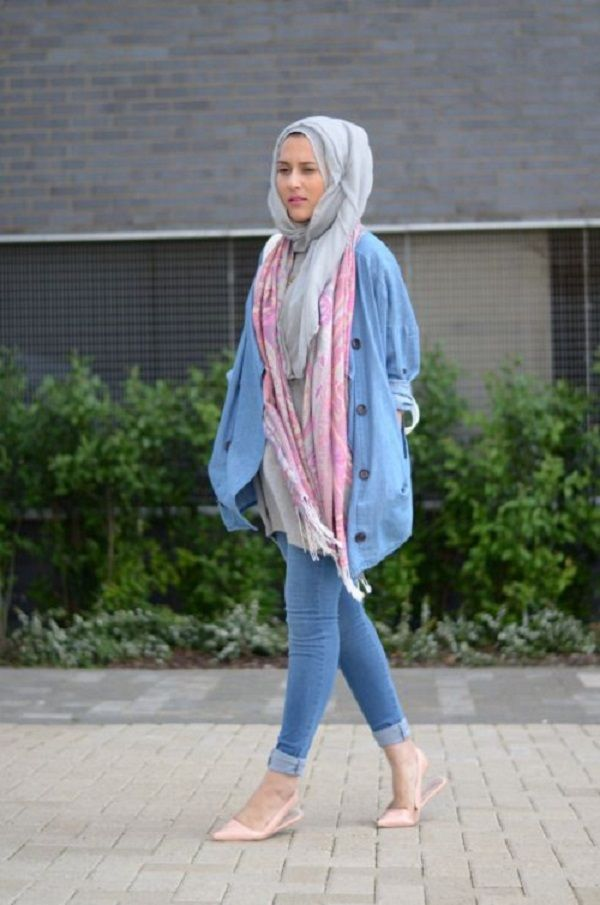 Casual Wear Hijab Styles with Jeans Trends 2016-2017 (21)