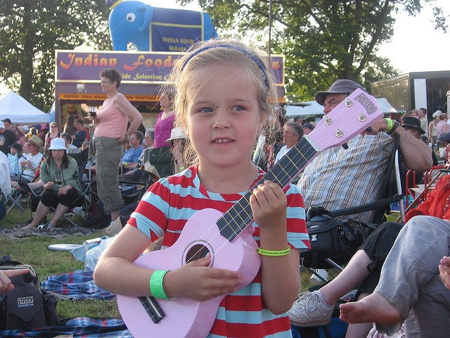 Happiness is a pink ukulele