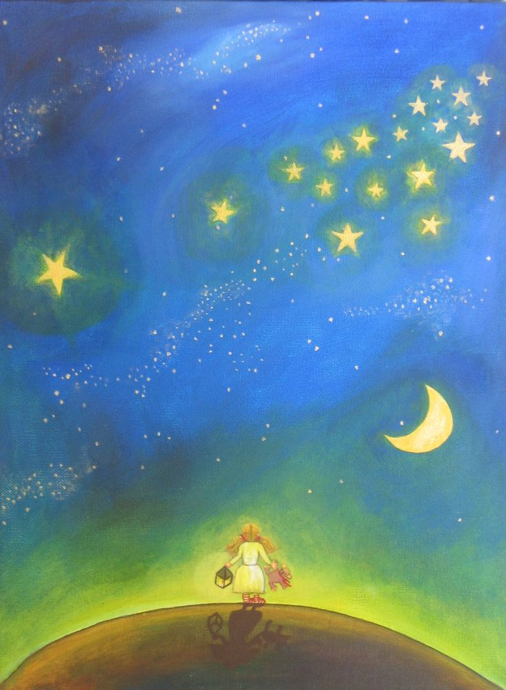 Schilderij sterrenhemel