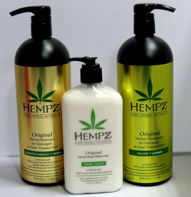 Hempz Original Shampoo Conditioner 33.8 Liter Set plus full size Original LOTION #Hempz