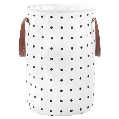 Collapsible Laundry Hamper - Black Spot Pattern | Kmart