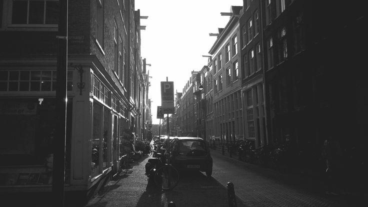 Black and White,Street,Sunshine