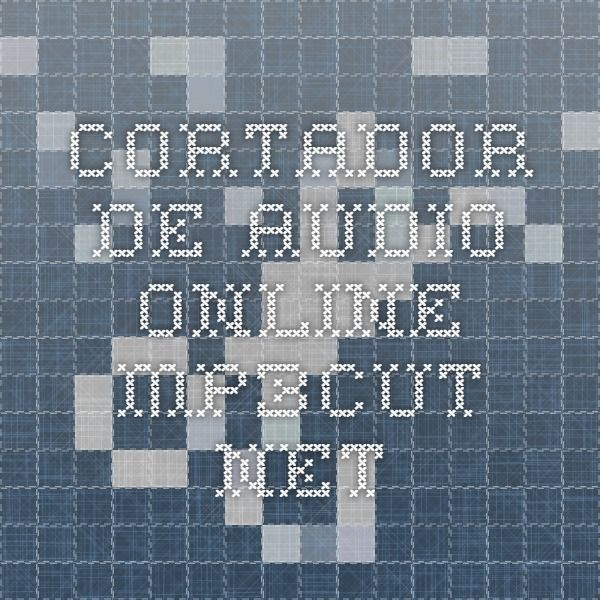 Cortador de audio online mp3cut.net