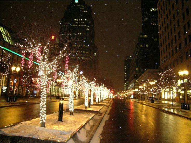Montreal around Christmas time