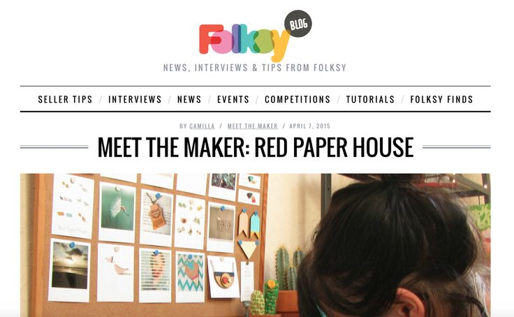 Meet The Maker | Red Paper House | Folksy