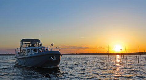 Hausboot Herbst Tour zu den Kranichen auf der Müritz