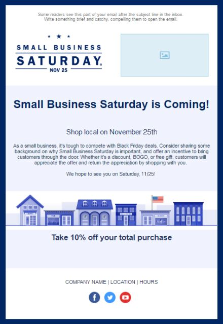 97 best small business saturday images on pinterest email 11 holiday email templates for small businesses nonprofits wajeb Gallery