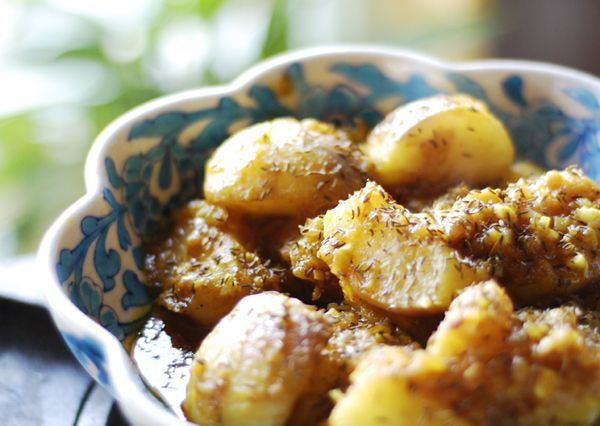 Kashmiri  Braised White Turnips  Recipe  spicetrekkers.com