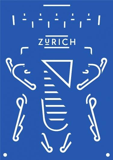 *: Zurich Poster, Design Collection, Poster Frame-Black, Graphics Design, Images, Graphics Graphism, Dark Blue, Domination Rechstein, Swiss Design