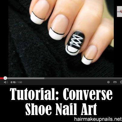 Converse Shoe Nail Art