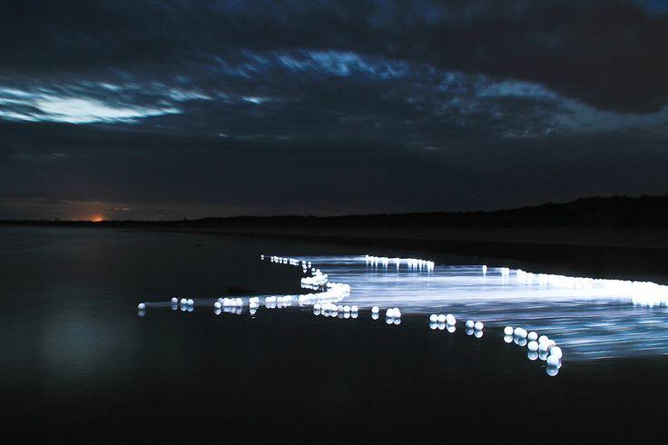 Light Artist James Tapscott's 'Flow-Ocean Grove'