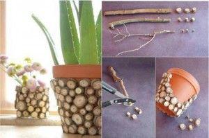 Creative decorations to terra-cotta pot plants 1