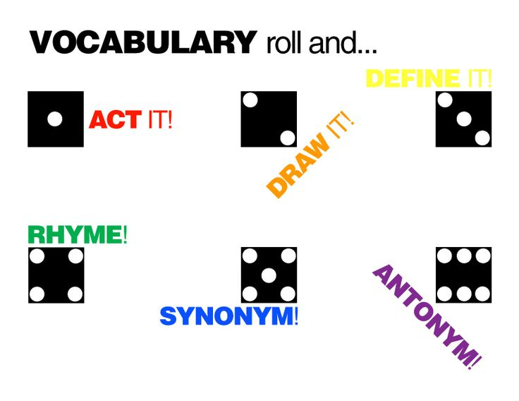 vocabulary activity - roll and do#Repin By:Pinterest++ for iPad#