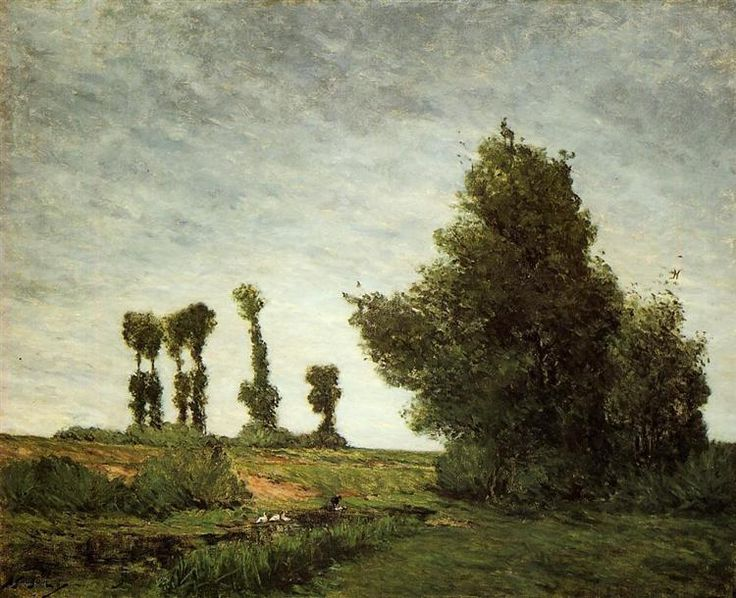 Landscape with Poplars, Paul Gauguin