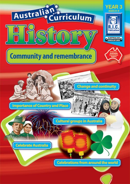 Australian Curriculum Geography Year 3: Community and remembrance. Importances of Country and Place, Change and continuity, cultural groups of Australia, Celebrate Australia, Celebrations from around the world, Aboriginal and Torres Island Strait people, Traditional story retelling, Australia Day, Anzac Day, NAIDOC Week, Australian National Flag, Indigenous Australian flags, Australian Coat of Arms, National days around the world, Easter and Chinese New Year