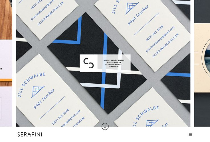 Serafini Creative - Love the atypical layout!