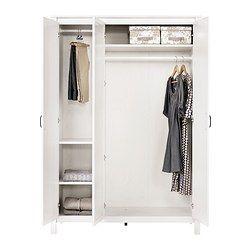die besten 25 kleiderschrank 3 t rig ideen auf pinterest brimnes kleiderschrank graue. Black Bedroom Furniture Sets. Home Design Ideas