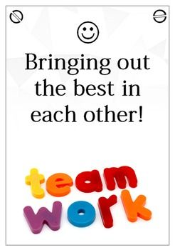 6 Teamwork Posters ( A4 size )
