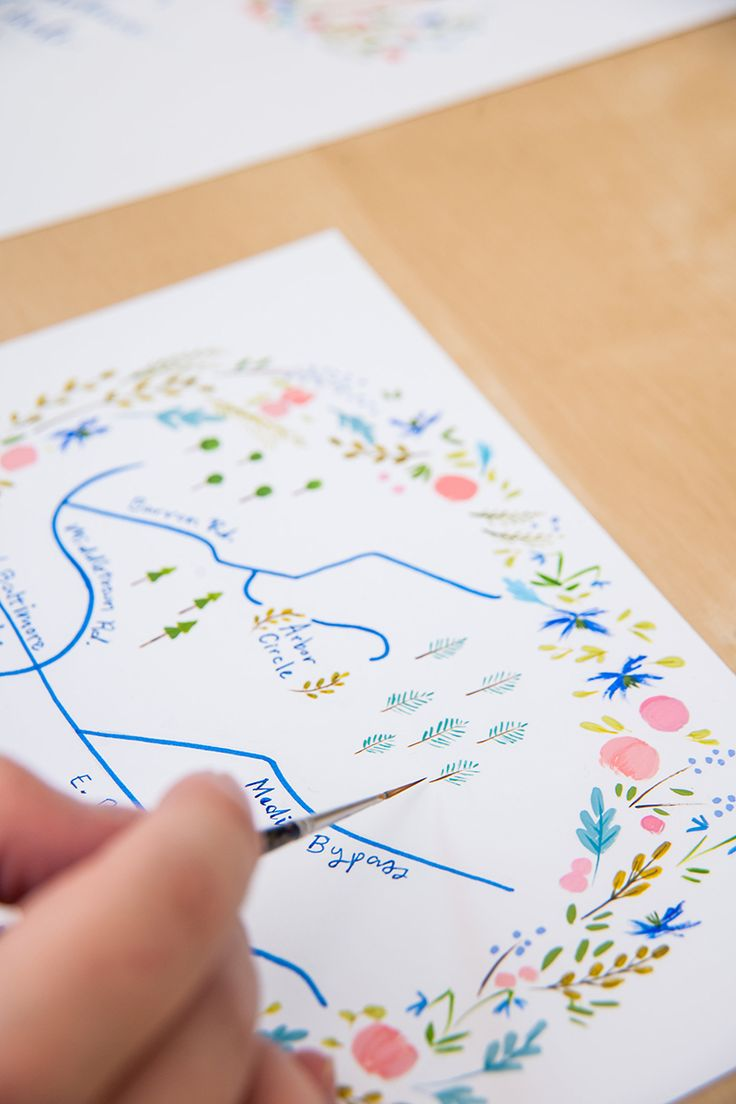 For invitations to graduation parties and weddings, have a thoughtful hand-drawn map included.