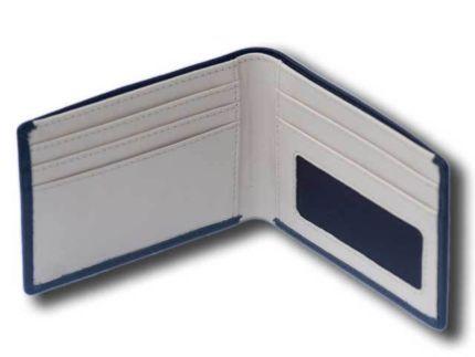 MENS SLIM LEATHER WALLET 3 CARD SLOTS BIFOLD WINDOW ZIP NOTE 906