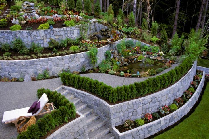 El tema de nuestro artículo de hoy estará dedicado a los jardines modernos aterrazados con muros de contencion, que permiten agrandar el paisaje