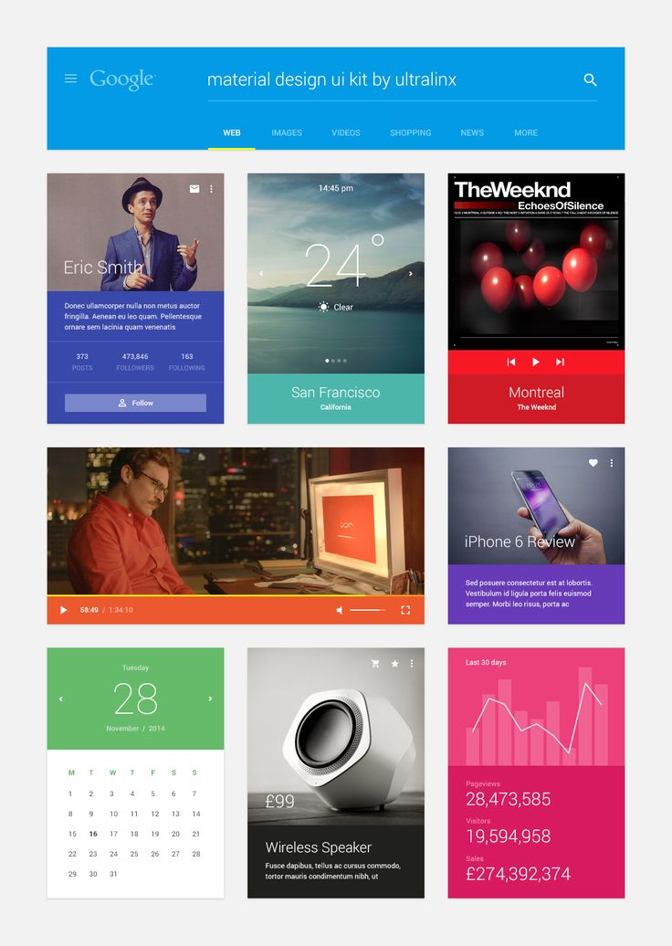 UI Kit (Inspired by Material Design) by UltraLinx