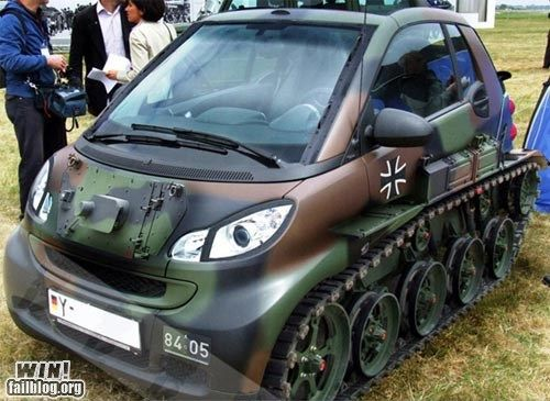 Smart made into a tank?? need one.