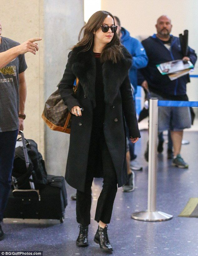 Get an unFURgettable coat like Dakota's by The Row #DailyMail  Click 'Visit' to buy now
