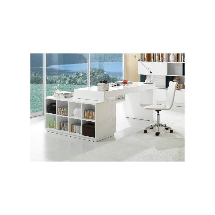 J&M Furniture Modern Office Desk with Hutch | AllModern