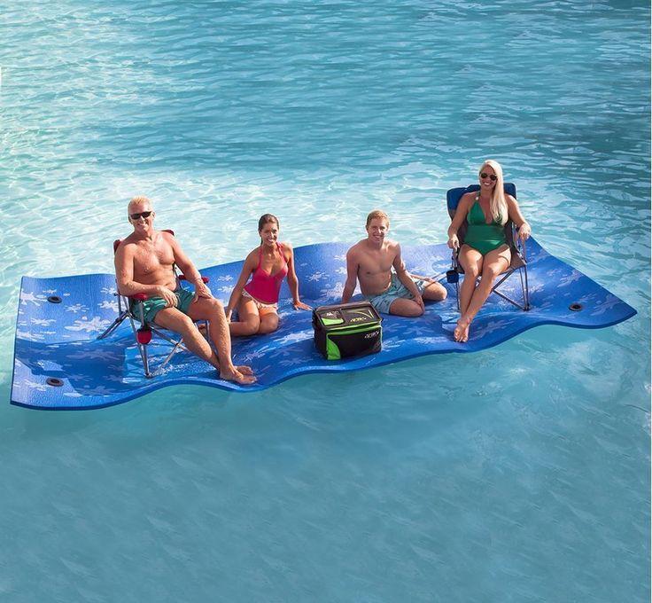 Floating Water Mat Large Lake Pool Swimming Float Waterpad Beach 15' Raft Lounge