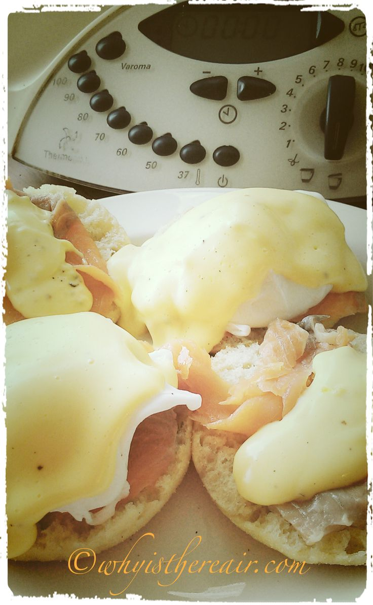 Thermomix Eggs Benedict with English Muffins and Hollandaise Sauce, all made in the Thermomix, of course!