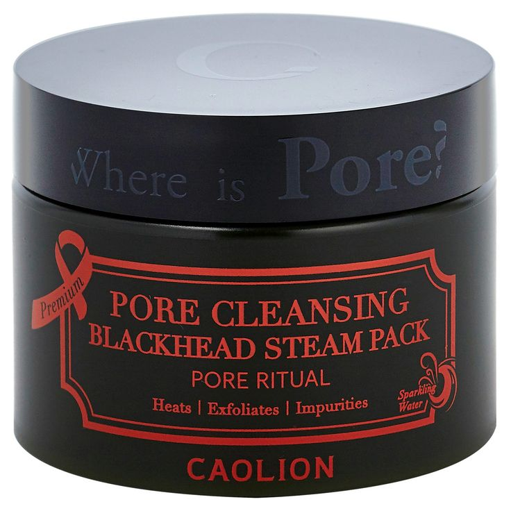 Caolion Steam Pore Pack is a purifying active-charcoal steaming mask that heats up on skin to exfoliate, hydrate, and cleans impurities (blackheads and whiteheads) to leave skin brighter, smoother and moisturized. Contains pure botanicals, herbs, and natural ingredients with antioxidant and nourishing properties for healthier skin. A trusted brand specializing in pore care, Caolion packs are ideal for all skin types.