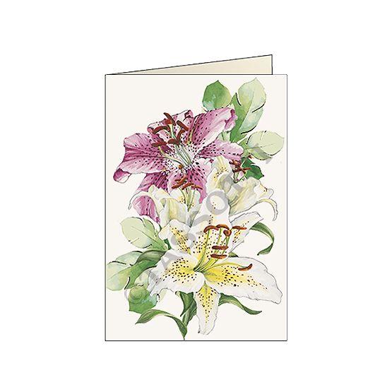 """Biglietto """"Composizione gigli"""" - Card """"Lilies"""" 11,5x16,8 cm"""