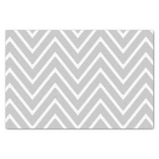 Motif gris et blanc 2 de Chevron Papier Mousseline