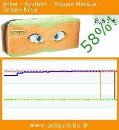 Anker - Anktubn - Trousse Masque - Tortues Ninja (Jouet). Réduction de 58%! Prix actuel 8,61 €, l'ancien prix était de 20,44 €. https://www.adquisitio.fr/anker/anktubn-trousse-masque