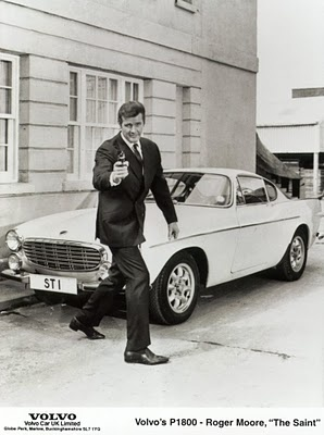 Roger Moore and his P1800 from The Saint