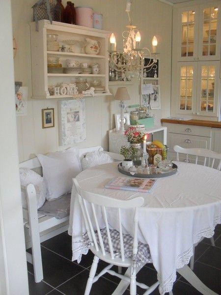Интерьер в стиле шебби шик в отдельно взятой квартире. Кухня-столовая 14