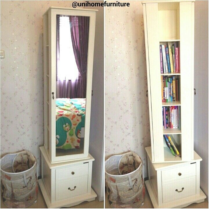WOW! Standing mirror with revolving door styled to perfection by our customer. Thank you for sharing @vizanahlabi #unihometestimonial   CODE: MD 200 (ready stock)