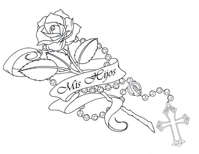 Line Drawing Name Designs : Cross tattoo designs with names design