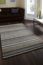 Oxford Stripes Blue/Green Rug : the BIG rug store, buy rugs online for fast free delivery in the UK mainland