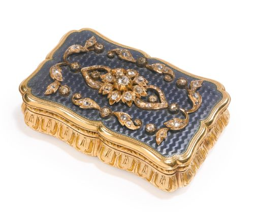 A French gold, enamel and diamond-set snuff box, maker's mark AL & Cie, probably for Lion & Cie., Paris, circa 1860 | Lot | Sotheby's