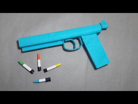 | DIY | How to make a paper'' Ghost Gun'' that shoots paper bullets-Toy WEAPONS By Dr. Origami - YouTube