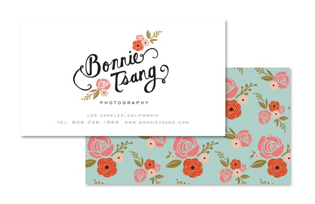 Bonnie Tsang Business Card By Anna Bond Logos Monograms Pinterest Photography And Cards