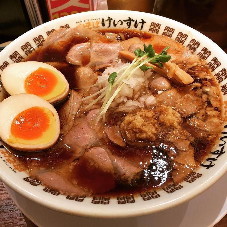 ハァハァするセミナーの前に今日の一杯#ラーメン #名古屋 #肉そばけいすけ
