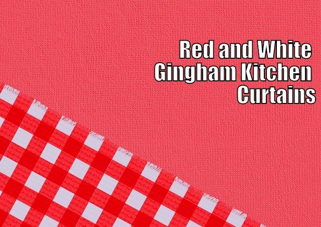 56 Best Images About Red Kitchen Curtains On Pinterest