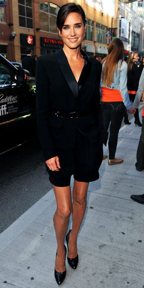 Jennifer Connelly as gorgeous as ever in a black long sleeve jumpsuit