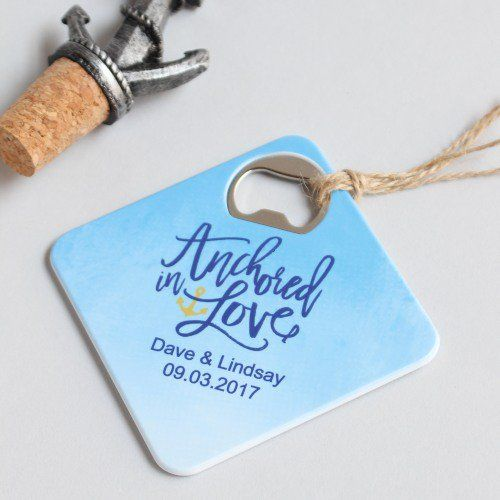 Personalized Coaster Bottle Openers by Beau-coup